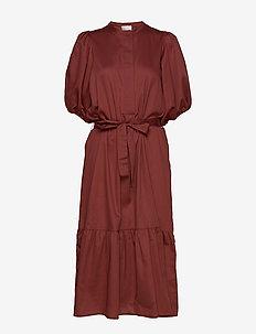 Aimee SS Midi Dress - midi kjoler - henna