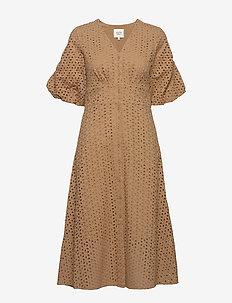 Milly SS Dress - midi kjoler - praline