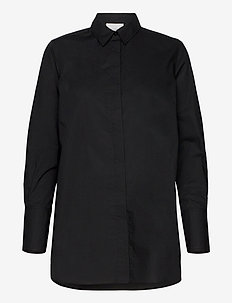 Larkin LS Classic Shirt - langermede skjorter - black
