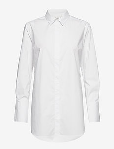 Larkin LS Classic Shirt - long-sleeved shirts - white alyssum