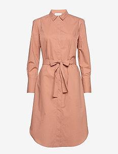 Larkin LS Midi Shirt Dress - skjortekjoler - mocha mousse