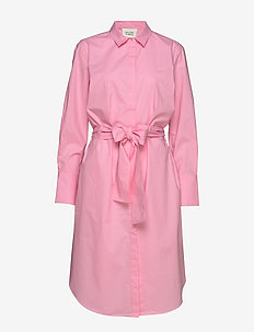 Larkin LS Midi Shirt Dress - skjortekjoler - prism pink