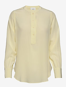 Thori LS New Blouse - long sleeved blouses - tender yellow