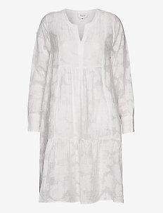 Mila LS Midi Dress - short dresses - white alyssum