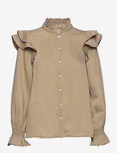 Bella LS Shirt - langermede bluser - incense