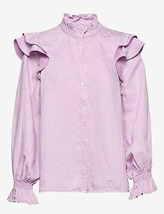 Bella LS Shirt - langermede bluser - lavender frost