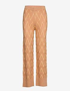 Bea Knit New Trousers - suorat housut - desert mist