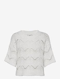 Tamma Knit O-Neck - trøjer - white alyssum