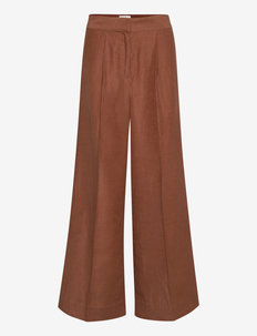 Lia Trousers - vida byxor - carob brown
