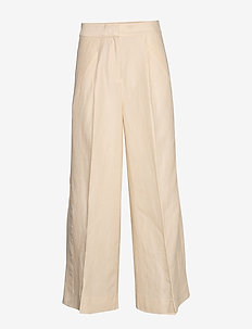 Lia Trousers - wide leg trousers - cream tan