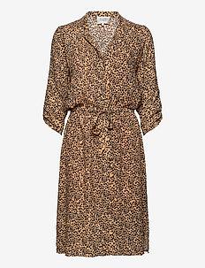 Eli Midi Dress - skjortekjoler - desert mist