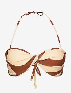 Julia Bikini Top - bikinitopper - carob brown