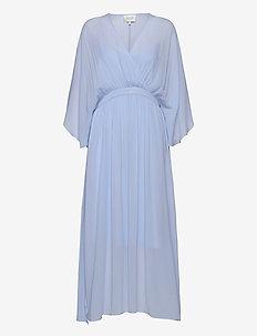 Tulipa Maxi Dress - wrap dresses - brunnera blue