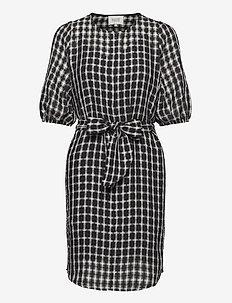 Feng Zip Dress - BLACK
