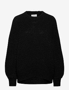 Milffa Knit O-Neck - gensere - black