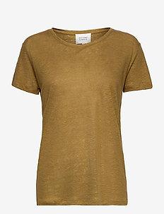 Peony New O-Neck Tee - t-shirts - butternut