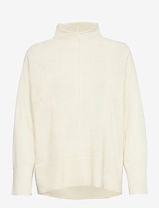 Yrsa Knit T-Neck - golfy - antique white