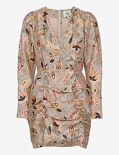 Eske Mini Dress - slå-om-kjoler - marzipan