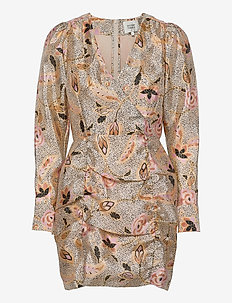 Eske Mini Dress - omslagskjoler - marzipan