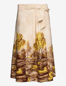 Home Skirt - midi kjolar - marzipan