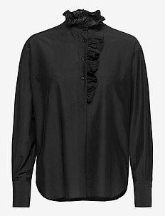 Frillo New Blouse - blouses med lange mouwen - black