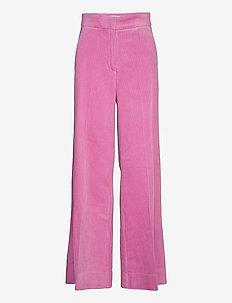 Donella HW Trousers - leveälahkeiset housut - moonlight mauve