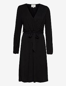 Missa Drape Dress - midiklänningar - black