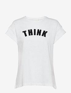 Think Tee - t-skjorter med trykk - white