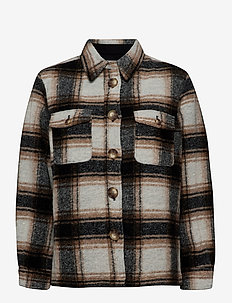 Amber Shirt Jacket - wool jackets - caviar