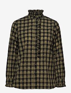 Osla Shirt - langermede skjorter - deep lichen green
