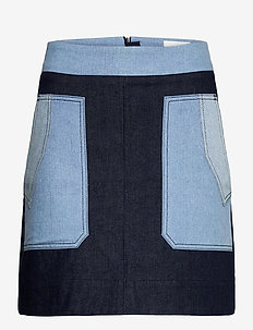 Denisa Skirt - jeansrokken - blue denim