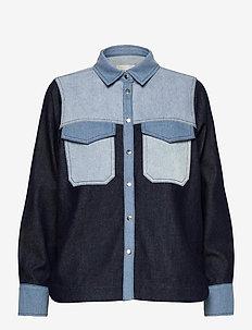 Denisa Shirt - langermede skjorter - blue denim