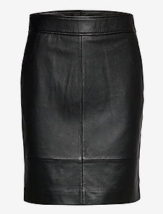Francie Mini Leather Skirt - pennkjolar - black