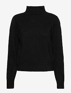 Brooky Knit Glitter Volumen T-Neck - poolopaidat - black