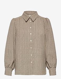 Felicia Shirt - langærmede skjorter - sepia tint