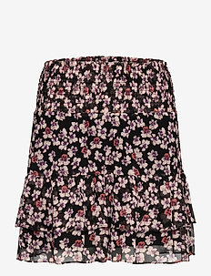 Beautiful printed mini skirt in a viscose quality. The skirt - korte nederdele - black