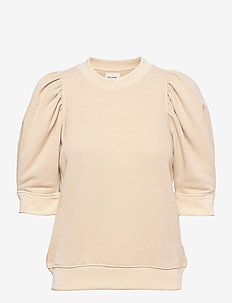 Dawni Sweat Tee - stickade toppar - off white