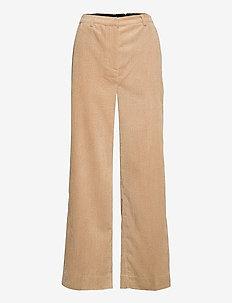 Boyas Classic Trousers - bukser med brede ben - humus