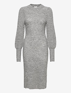 Mika Knit Dress - vapaa-ajan mekot - grey melange