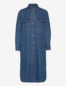 Ingrid Dress - vardagsklänningar - blue denim
