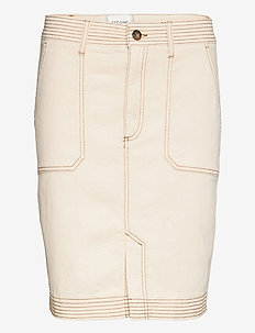 Terry Skirt - jeanskjolar - white swan