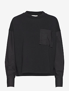 Joffe Oversized Sweat - langærmede toppe - black