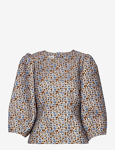 Harriet Blouse - langærmede bluser - blue bonnet