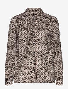 Frank Shirt - långärmade skjortor - black
