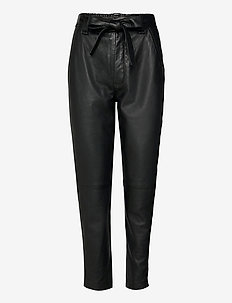 Indie Leather New Trousers - spodnie skórzane - black