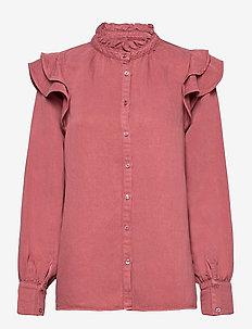 Bella New Shirt - langærmede skjorter - roan rouge