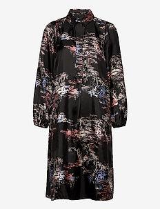 Roanne Midi Dress - vardagsklänningar - black