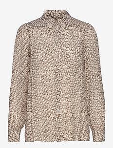 Lacing Shirt - långärmade skjortor - cement