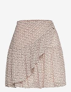 Lacing Skirt - midi kjolar - cement