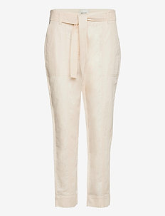Selene New Track Trousers - bukser med lige ben - white swan